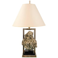 Pyrite Table Lamp, France, 1970s