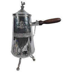 Traditional South American Silver Hot Drink Pot