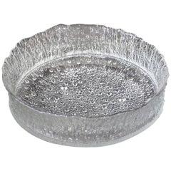 Mid-Century Modern Rare Tapio Wirkkala Large Cast Glass Ice Dish Model 3442