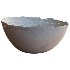 Handmade Cast Concrete Bowl in White by UMÉ Studio