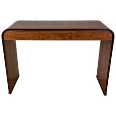 Mid-Century Modern Teak and Rosewood Waterfall Desk