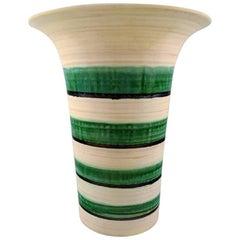 Kähler, Denmark, Large Glazed Stoneware Floor Vase in Modern Design, 1940s