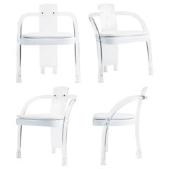 Lucite Waterfall Armchairs by Hill Manufacturing, Set of Four