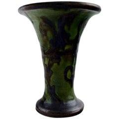 Kähler, Denmark, Glazed Stoneware Vase, Trumpet-Shaped