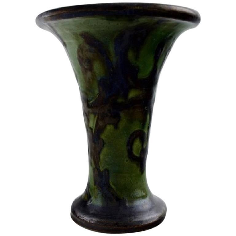 k hler denmark glazed stoneware vase trumpet shaped for sale at 1stdibs. Black Bedroom Furniture Sets. Home Design Ideas