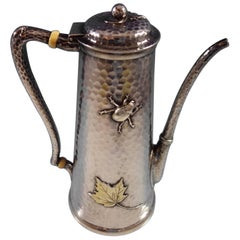 Mixed Metals by Tiffany Sterling Silver Demitasse Pot with Bugs #1386 Hollowware