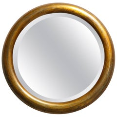Edwardian Brass Mirror