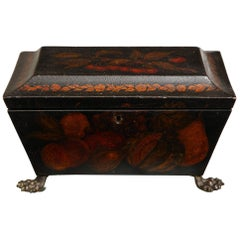 Decoupage and Fruit Painted Tea Caddy