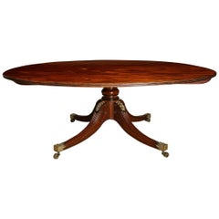 Massive Regency Circular Dining Table