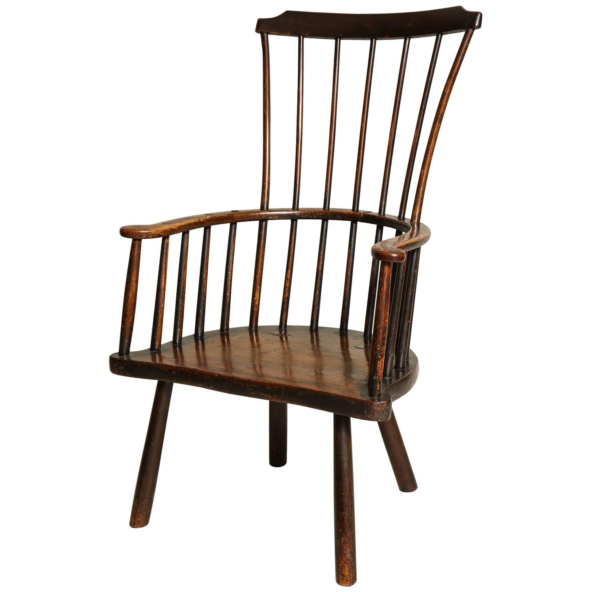 Rustic 18th Century English Windsor Armchair