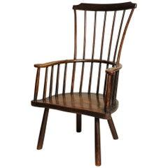 Rustic 18th Century English Windsor Armchair