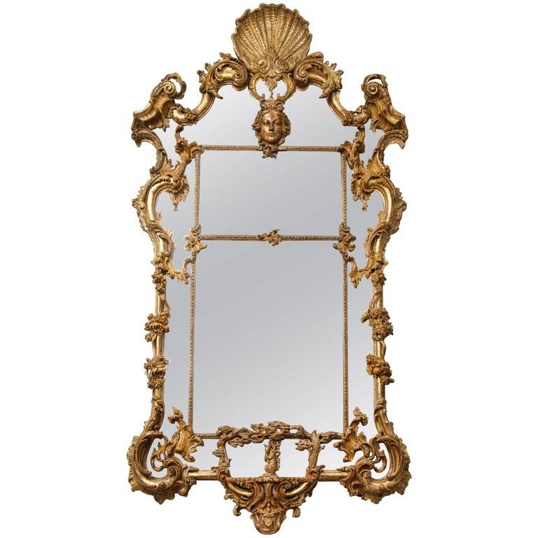 English Rococo Mirror For Sale