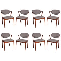 Kai Kristiansen No. 42 Rosewood Dining Chairs, Set of Eight