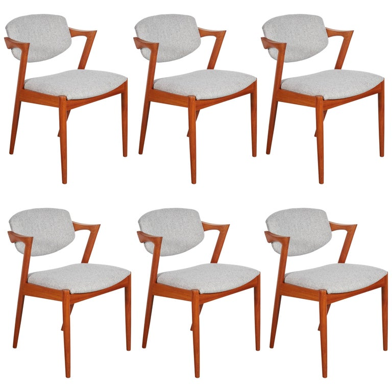 No. 42 Kai Kristiansen Teak Dining Chairs, Set of FOUR  1