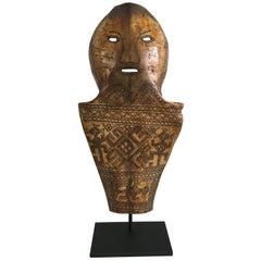 Late 19th Century Batak Mounted Carved Bone/Shell Artifact/Mask