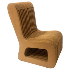 Rare and Unique Chair in Cardboard Attributed to Frank Ghery