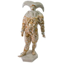 Herend Modern Figure Venetian Mask Hand-Painted Porcelain