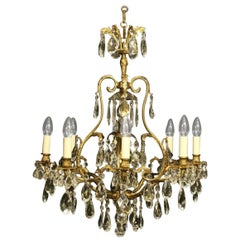 French Birdcage Nine-Light Antique Chandelier