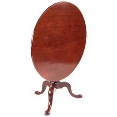 Large George III Mahogany Tripod Table