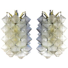 Vinicio Vianello Pair of Murano Glass Chandeliers by Vetreria Salviati, Italy