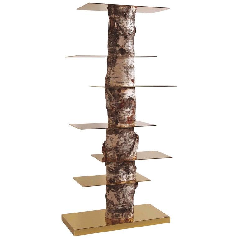 """Andrea Branzi """"Tronchi"""" Bookcase, Superego Editions, Italy For Sale"""