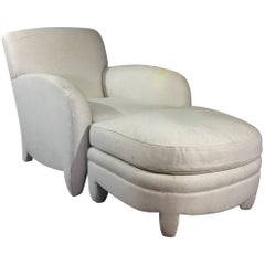 Donghia Club Chair and Ottoman