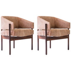 "1960s Pair of ""Senior"" Armchairs in Rosewood by Jorge Zalszupin, Brazil Modern"