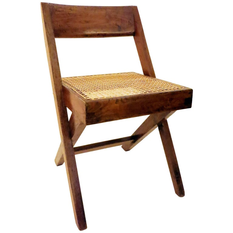 Pierre Jeanneret Library Chair, 1950s 1