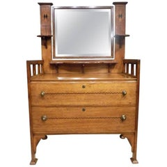 Oak Arts & Crafts Period Shapland and Petter Dressing Table
