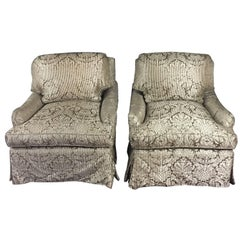 Elegant, Luxurious Pair of Bridgewater Style Club Chairs