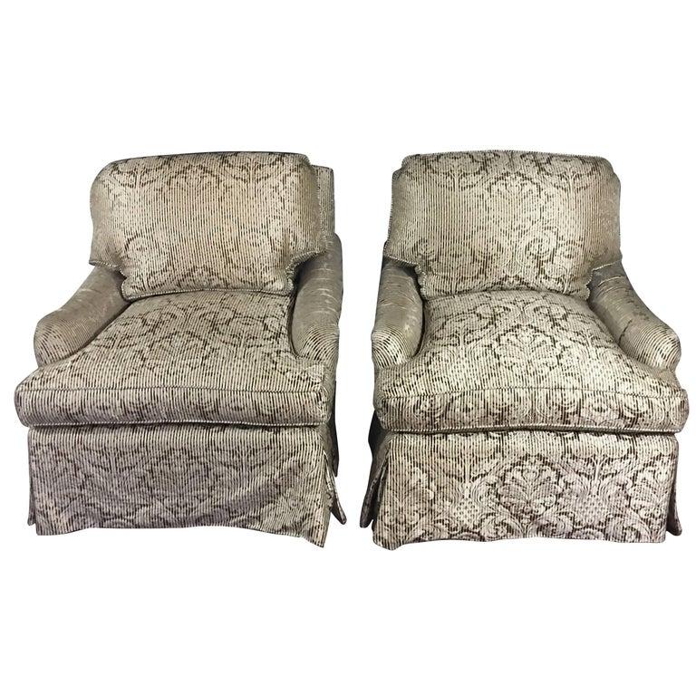 Elegant, Luxurious Pair of Bridgewater Style Club Chairs