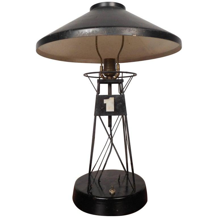 Unique vintage nautical lighthouse table lamp for sale at 1stdibs vintage nautical metal lighthouse table lamp aloadofball Choice Image