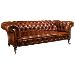 Fine Antique 19th Century Leather Upholstered Chesterfield