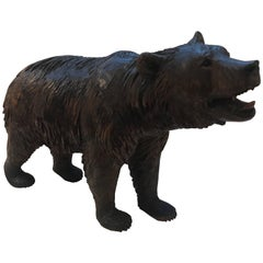 Large Black Forest Carved Bear