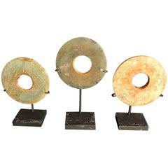 Ancient Chinese Handmade Jade Bi Group Genuine Artifacts from 2000 BC