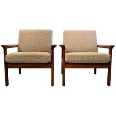 Sven Ellekaer Mid Century Modern Teak Lounge Chairs
