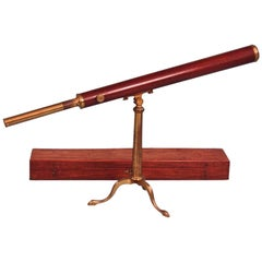 Fine George III Mahogany and Brass Telescope by Dollond of London