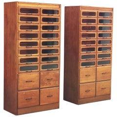 Pair of English Haberdashery Cabinets