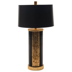 Liz Marsh Boheme Gilt Grafitti Lamp with Shade