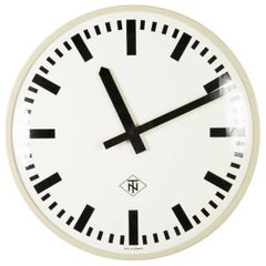Huge Elegant German Telenorma Electric Wall Clock