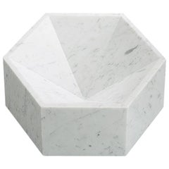 """Hexagonal Constellation Bowl"" Large High in Marble Designed by Lara Bohinc"
