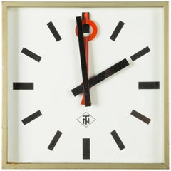 Huge German Telenorma Electric Wall Clock