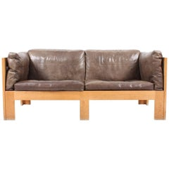 Sofa in Patinated Leather