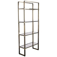 Paul M Jones Bronze and Glass Etagere or Display Shelf, 1960