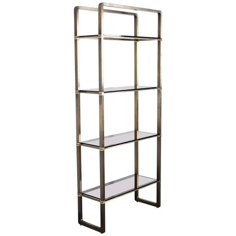 Paul M Jones Bronze and Glass Etagere or Display Shelf, 1960 For Sale