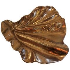 Wonderful Lorin Marsh Large Shell Gold Gilt Alligator Porcelain Centrepiece Bowl