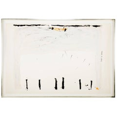 "Silkscreen by Antoni Tàpies ""Vertical Down Below"""