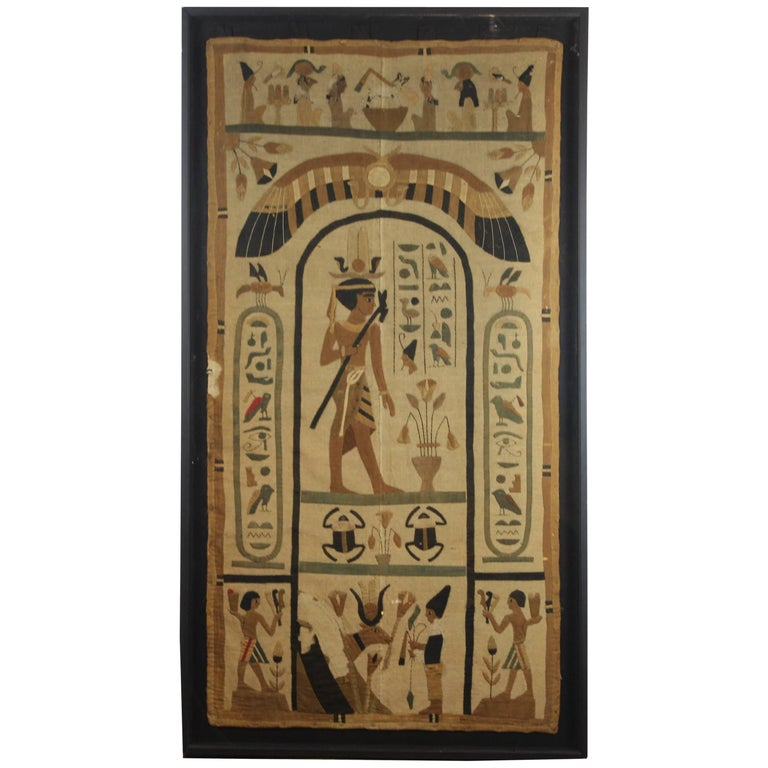 Ancient egyptian tomb cloth fragment for sale at 1stdibs for Ancient egyptian tomb decoration