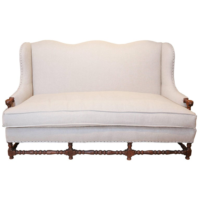 Louis xiv style sofa newly upholstered for sale at 1stdibs - Louis xiv sofa ...