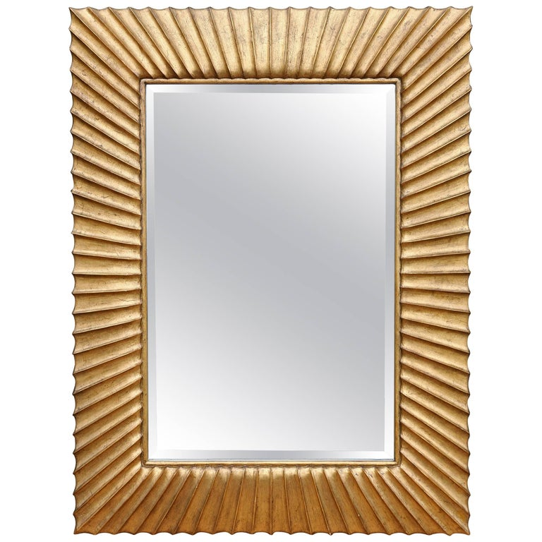 Modern Carved Giltwood Mirror